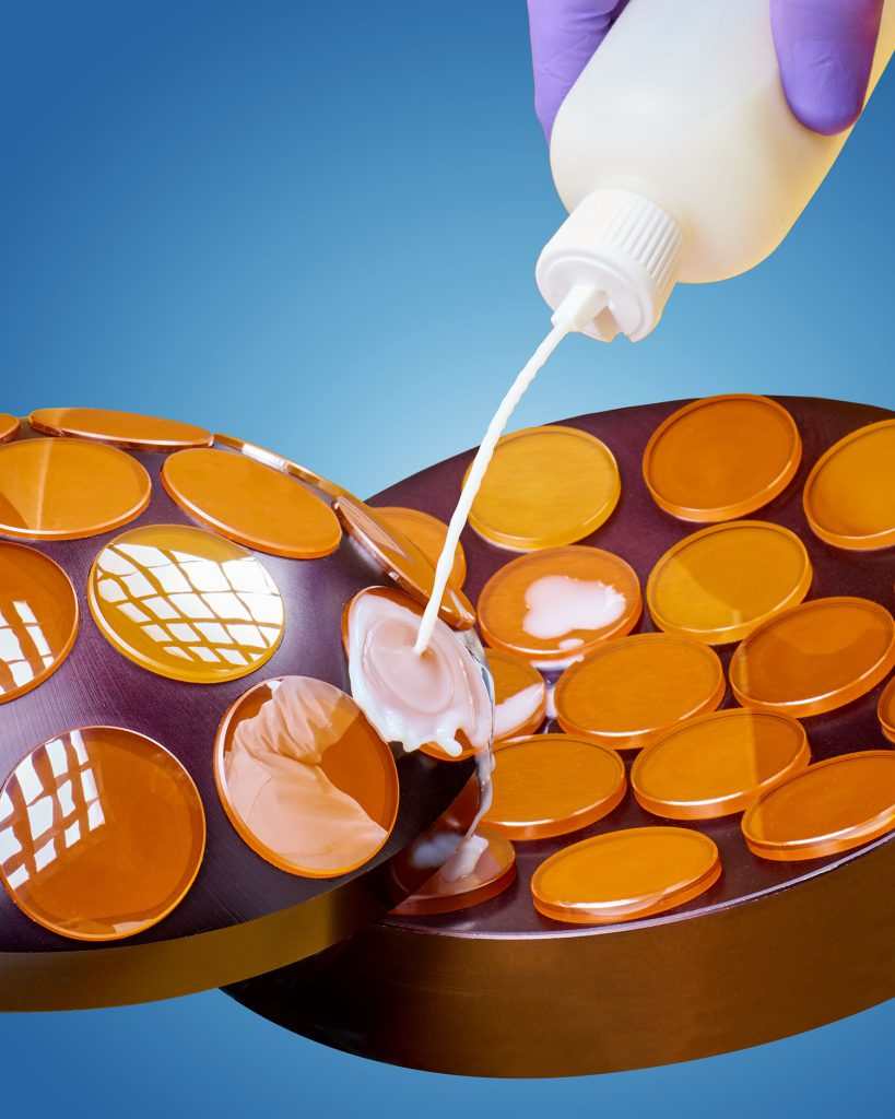 SPOT BLOCK POLISHING POWDERS SUITED FOR PITCH OR ALUMINUM PLATES